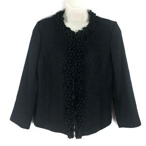 Chico's 3 Women X Large Black Open Front Jacket